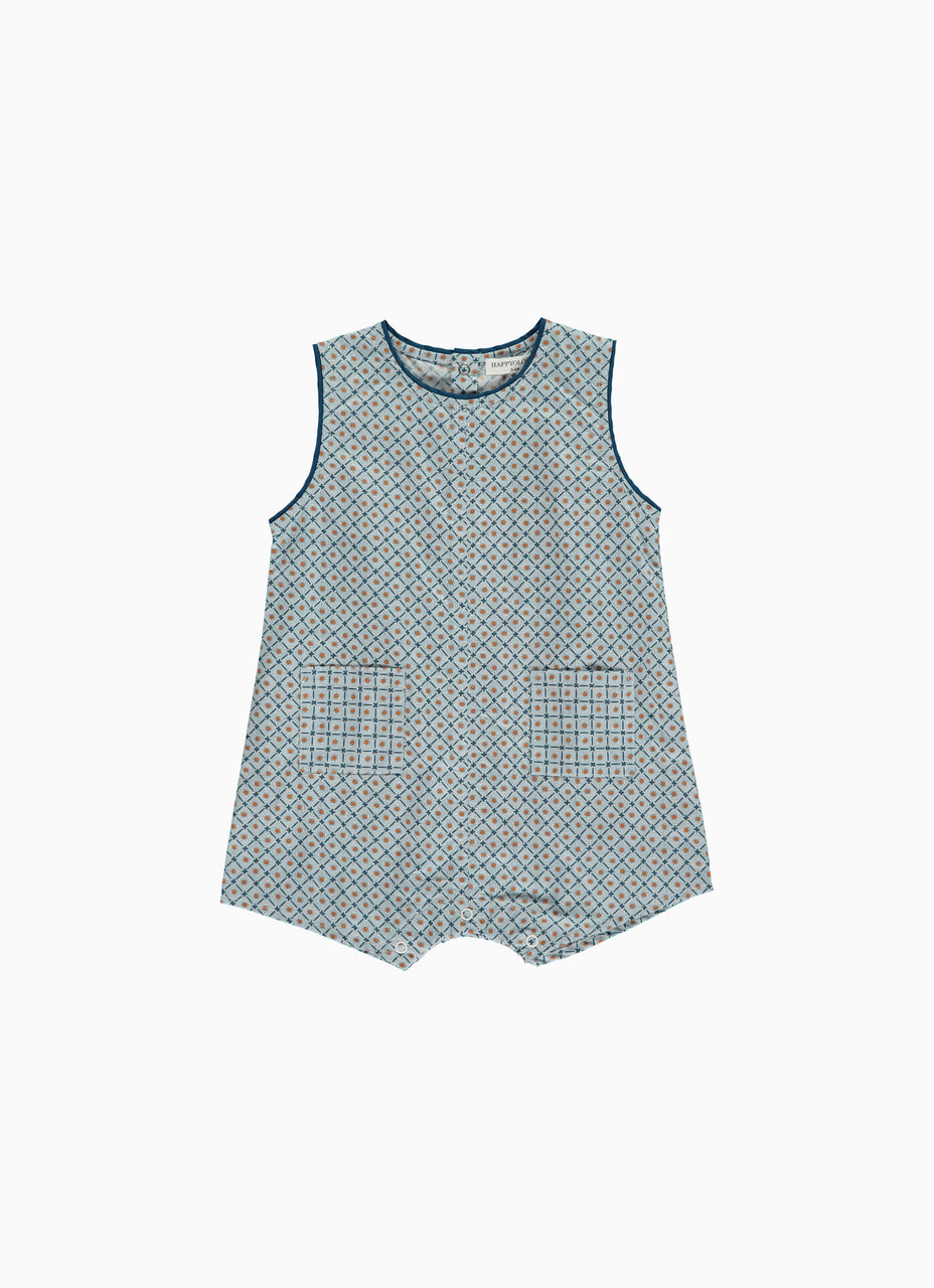 Lilac Baby Romper,Geometic