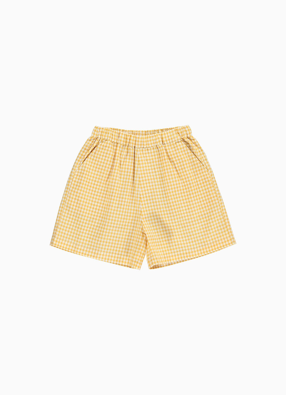 Nectar Shorts Yellow Plaid
