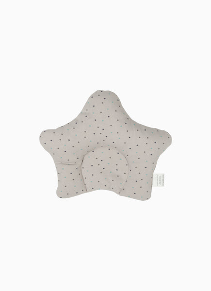 Twinkle Baby Pillow, Star Print Grey