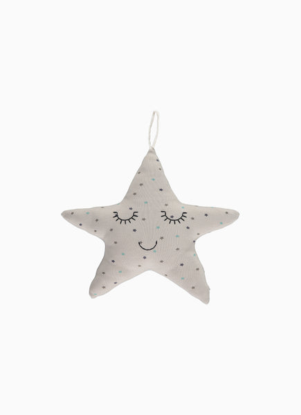 Twinkle Baby Rattle, Star Print Grey