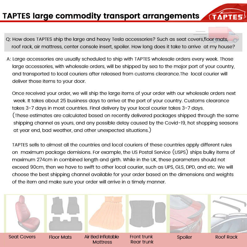 TAPTES Tesla Accessories Free Shipping