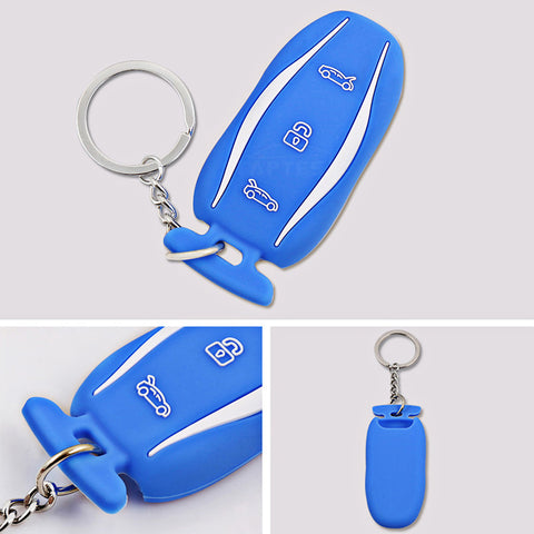 Silicone Key Fob cover with key chain for model S