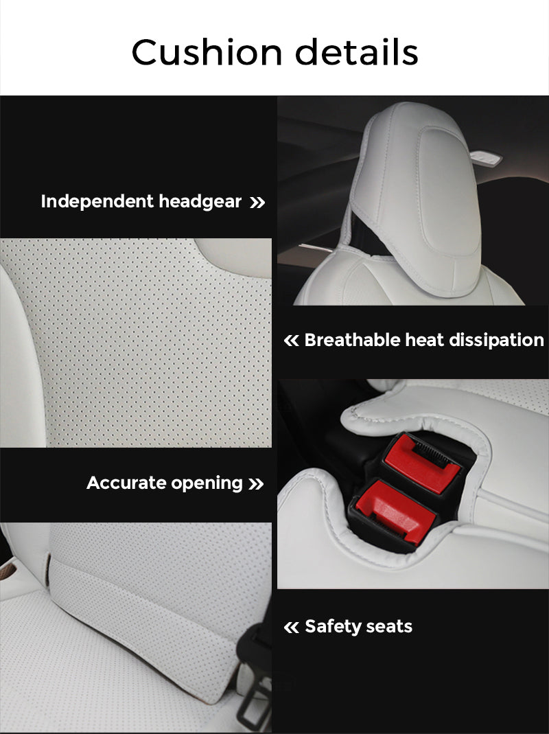 tesla model s seat covers white