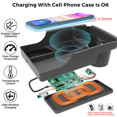 QI wireless charging organizer box