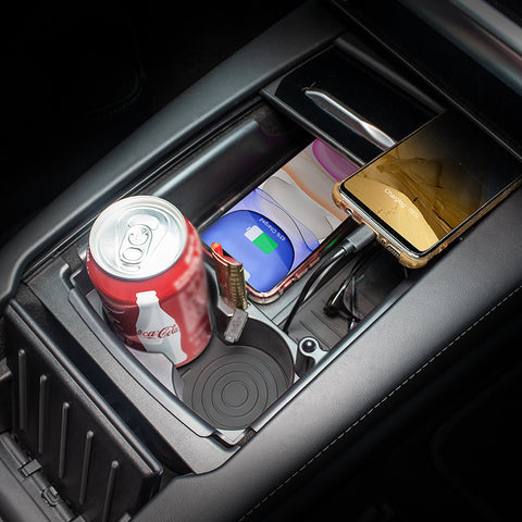 tesla model s wireless charging organizer box