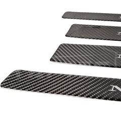 Real Carbon Fiber Door Sills Protection Kit for Model X (4 Pcs)