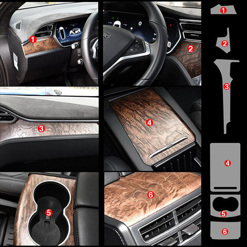 Precut Interior Scratch-Prevent Clear Paint Protection Film For Tesla Model X/S - TAPTES