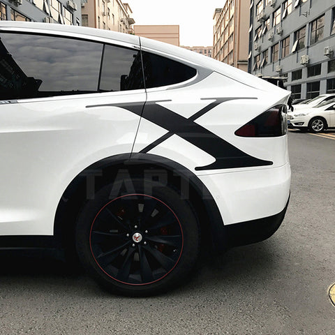 Decal Sticker for Tesla Model X, Carbon Fiber Style