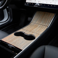 Tesla Model 3 Model Y Vinyl Wood Grain Center Console Wrap