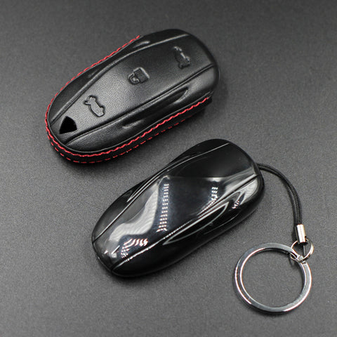 Leather Key Fob Cover for Tesla Model S