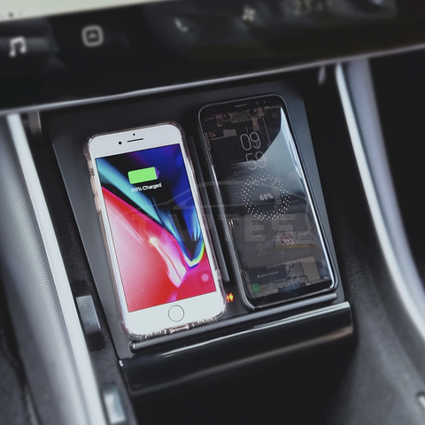 Wireless Phone Charger Pad with Larger Charging Area, for Built before June 2020 Model 3