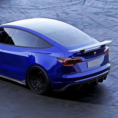 Carbon Fiber Trunk Lip Spoiler for Tesla Model 3 2017 2018 2019 2020