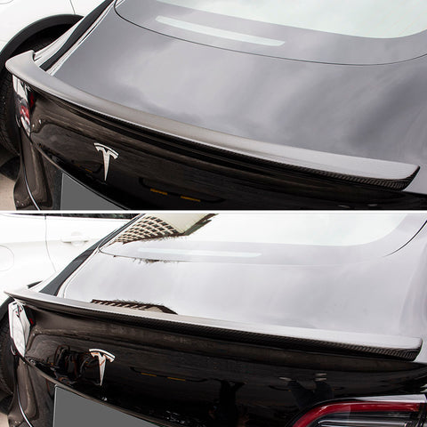 Carbon Fiber Spoiler / Blade for Tesla Model 3, Glossy and Matte - TAPTES
