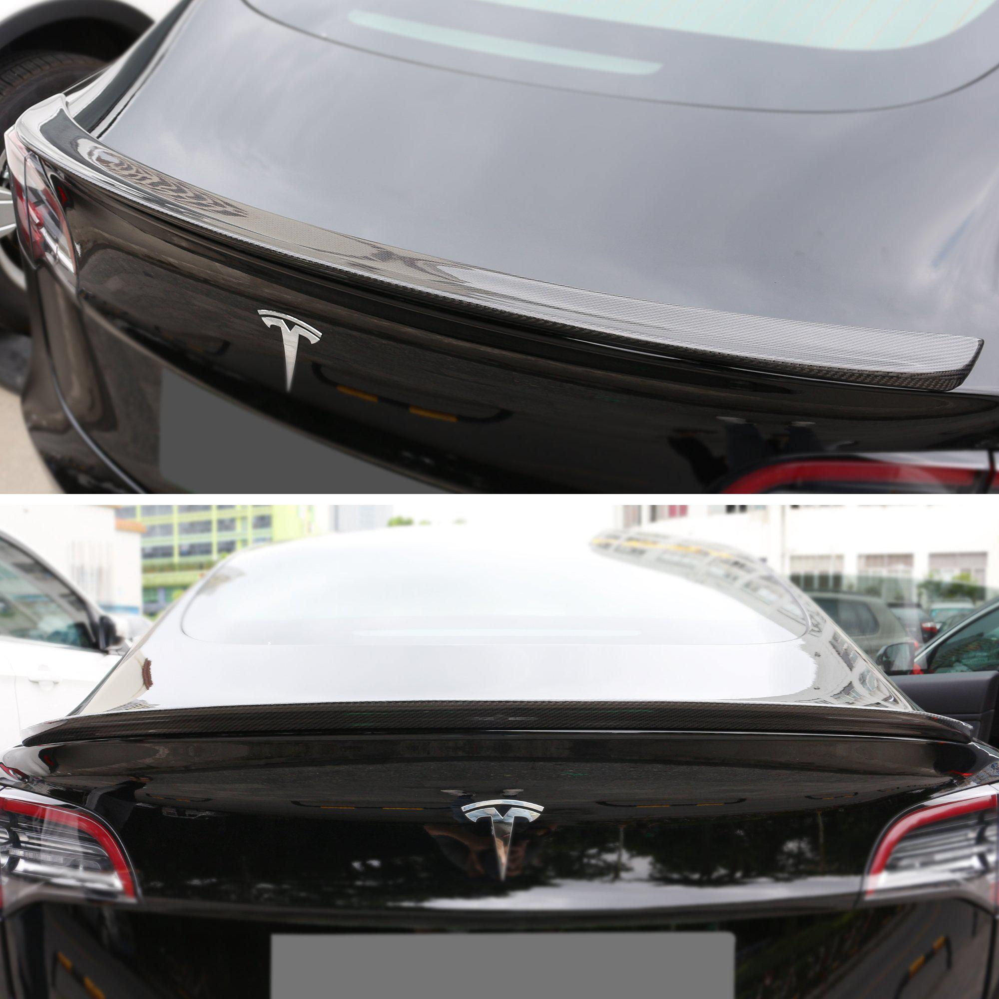 Tesla Model 3 Carbon Fiber Spoiler / Blade ($169 99 with 23% off