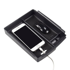 Center Console Storage Box with USB Hole for Model S - TAPTES