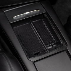 Center Console Storage Box with USB Hole for Model X