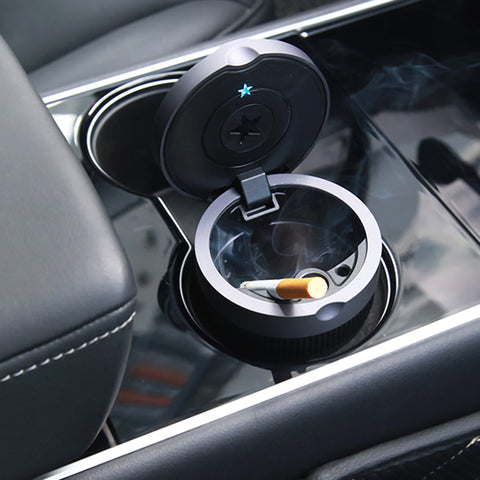 Cigarette Ashtray with Lid for Tesla - TAPTES