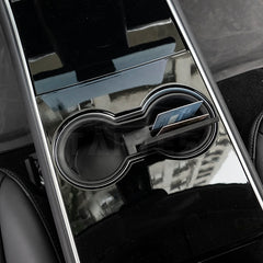 Cup Holder Insert with Card Slots for Tesla Model 3, Model Y