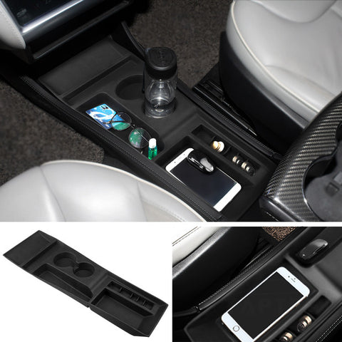 Silicone Center Console Cup Holder for Tesla Model S 2012-2016 - TAPTES