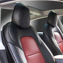 Leather Seat Covers for Tesla Model 3 2017 2018 2019 2020 2021