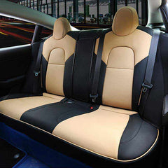 Custom Leather Seat Covers for Tesla Model 3, Full Set 2017 2018 2019 2020