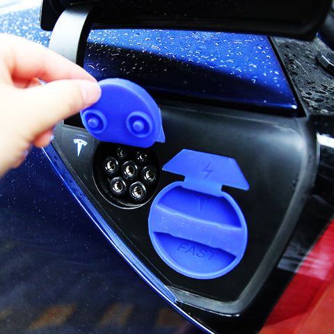 Dust-Proof&Water-Proof Protective Cap for Tesla Model 3 Charging Port