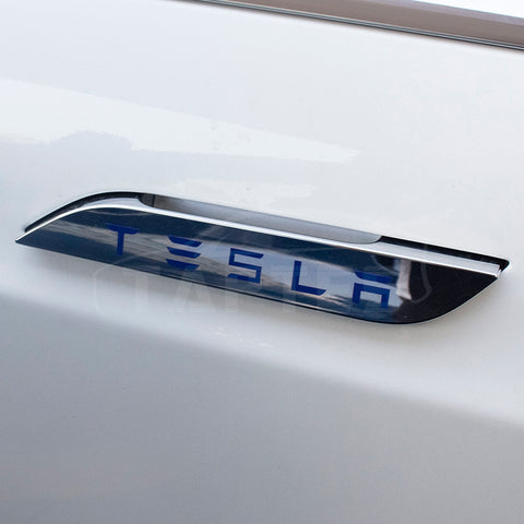 Multicolor Door Handle Decals Stickers for Tesla Model S Emblem Badge (4pcs )