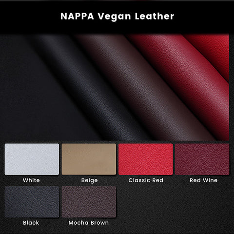 Premium NAPPA & Standard Litchi Grain Vegan Leather Swatches