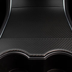 Matte Carbon Fiber Center Console Cover for Tesla Model 3 Model Y