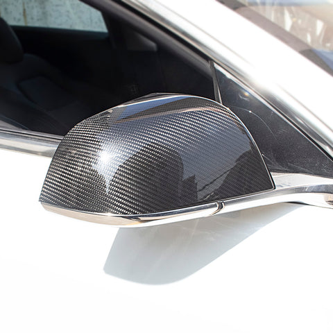 Pack of 2 Carbon Fiber Side Mirror Covers for Tesla Model 3