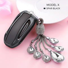 Crystal Chain Key Fob Cover for Tesla Model X - TAPTES