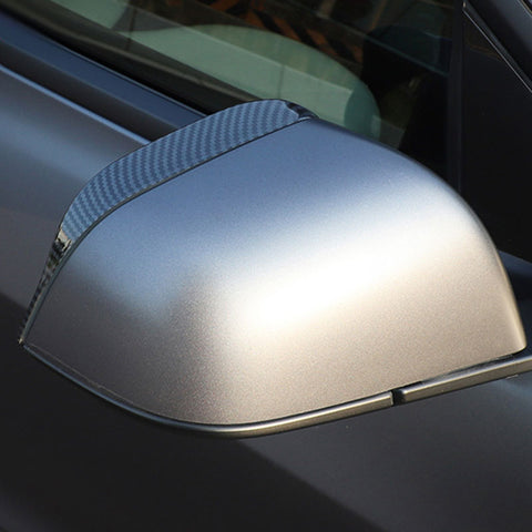 Side Mirror Trims for Tesla Model 3 Carbon Fiber, Rain Eyebrow Covers