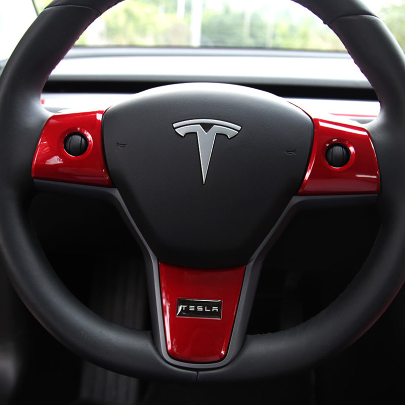 Steering Wheel Accent Decals for Tesla Model 3