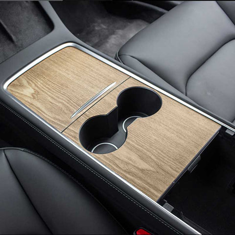 TAPTES 2021 Model Y & Model 3  Vinyl Wood Center Console Wrap / Protection Cover