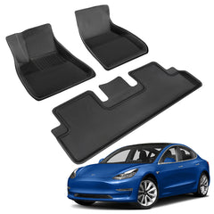 TAPTES All-Weather Floor Mats for Tesla Model 3 2019 2020 2021, Tesla Accessories for Canada