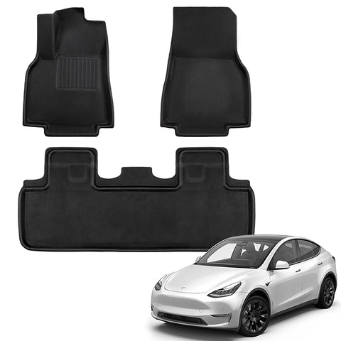 TAPTES All-Weather Floor Mats for Tesla Model Y 2020 2021 for 5 Seaters