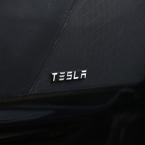 Aluminum Alloy Audio Decorative Stickers / Decoration Decal Badge for Tesla Model 3