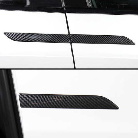 TAPTES Model X Carbon Fiber Door Handle Stickers, 4 Pcs