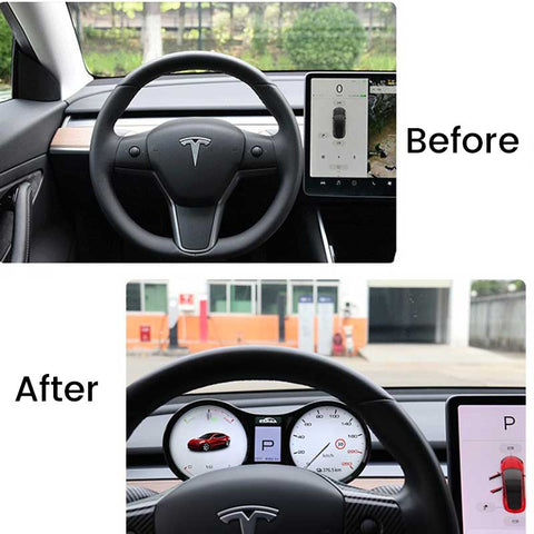 TAPTES Tesla Model 3 Model Y Head Up Display Dual System Hud Instrument Cluster with Speedometer Gear Display Driving Mode