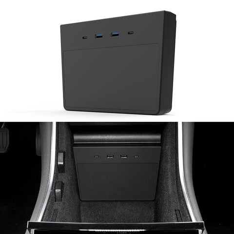 TAPTES Tesla Model 3 & Model Y USB Hub, Fit Tesla Model 3 Produced After Jun 2020 and Model Y