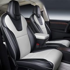 Custom Seat Covers for 2012-2021 Tesla Model S Front Seats, for Both Driver & Passenger