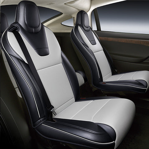 TAPTES Tesla Model S Seat Covers, Custom Designed 2012-2021 Model S Seat Covers Full Set