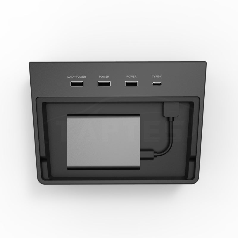 TAPTES Model 3 USB Hub, Designed for Tesla Model 3 Dashcam & Sentry Mode