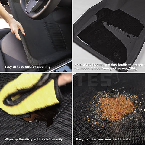 TAPTES Right-Hand Drive Model 3 All-Weather Floor Mats