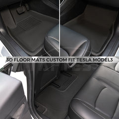 TAPTES All-Weather Floor Mats for Tesla Model 3 2019 2020 2021