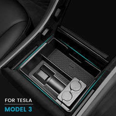 Tesla Model 3 Center Console Tray w/ J1772 Adapter Slot + Eyeglass Slot+ Coin Slot