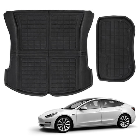 Front Trunk Mat Rear Trunk Mats for Tesla Model 3
