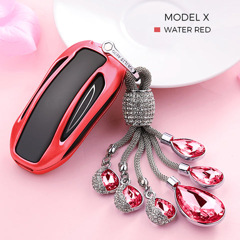 Crystal Chain Key Fob Cover for Tesla Model S X