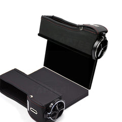 Car Seat Slit Gap Storage Box with Foldable Cup Holder for Model S - TAPTES