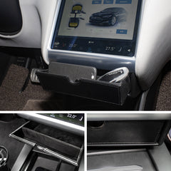 Center Console Cubby Compartment Drawer Storage Box For Tesla Model X - TAPTES